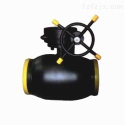 富林克泵阀-供暖管道蜗轮全焊接球阀